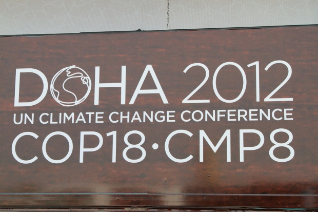Doha 2012 Climate Talk sign
