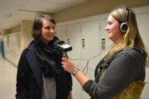 Jessica interviews one of the attendees after the show to ask her what she thought!