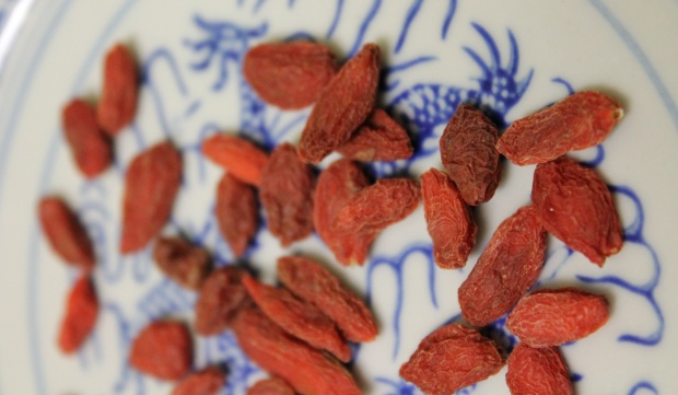 Dried goji berries. Photo credit: Kathryn Lennon.