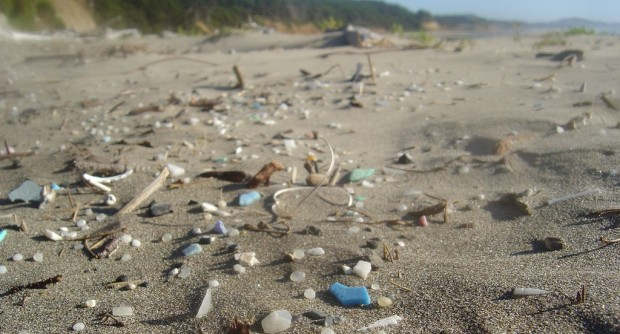 Pacific ocean plastic on an Oregon public beach (Credit: https://www.flickr.com/photos/circle_face/8000357312/)